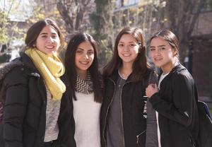 Ana Sofía, Mafer, Paulina y Miriam
