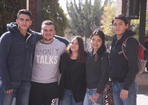 Andrés, Memo, Raissa, Daniela y Diego