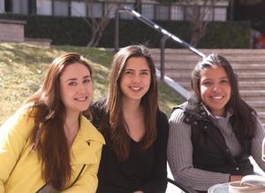 Mónica, Zanya y Frida