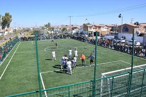 Pudieron presenciar un reñido encuentro de futbol entre los equipos de la DSPM y de la Sedena.