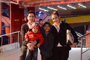 CIRCO SOLARY  En la foto: Dante, Mateo, Ian y Alejandra