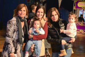 CIRCO SOLARY  En la foto: Pilar, Daniela, Maribel, Roberta y Renata