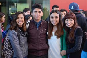 CAMERATA DE COAHUILA EN LA FECA  En la foto: Anitzi, Daniel, Daniela, Ale