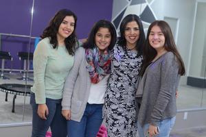 INAUGURACION JUMP & FIT  En la foto: Mariana, Michelle, Mague y Daniela