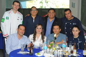 CARLOS RODRIGUEZ AGUILERA  FESTEJAN DÍA DE LA ENFERMERA DEL SANATORIO SAN JOSÉ: ENRIQUETA GONZÁLEZ, MARÍA DEL ROSARIO GARCÍA, SANTIAGO AVALOS  MENDEZ Y BENJAMIN AVALOS MENDEZ