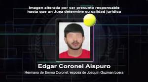 Se efectuaron 146 dictámenes periciales que comprobaron la participación de al menos 13 personas diferentes del sexo masculino, entre quienes se identificó a Edgar Coronel, cuñado de Guzmán Loera.