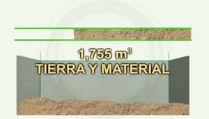 El volumen de la tierra removida y extraída para hacer el túnel fue de 1,755 metros cúbicos, equivalente a 3,159 toneladas.