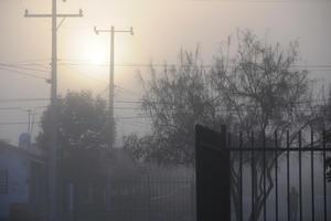 La neblina impidió ver a distancia a los laguneros.