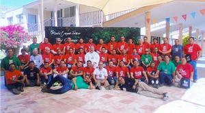 23012016 Grupo de personas que participaron en el cursillo #8 para caballeros en días pasados en la Casa de Cristiandad de la Diócesis de Gómez Palacio, Dgo.