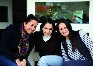 04022016 COMPAñERAS.  Andrea, Rosana y Betty.