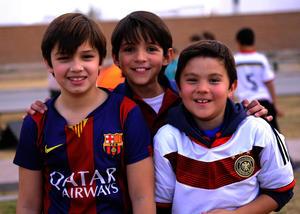 Eduardo, Sebastián y Rogelio