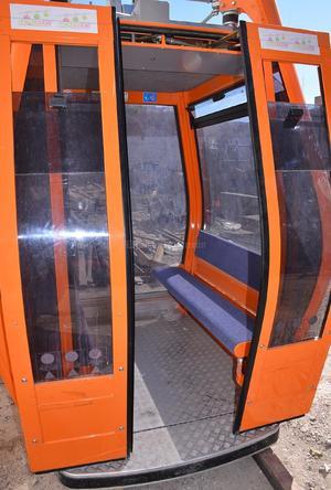 El teleférico contará con ocho cabinas.