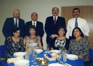 06022016 Ing. Gustavo Breceda, Ing. Enrique Reyna, Ing. Jorge L. Marín y Dr. Fernando González, en reciente evento social.