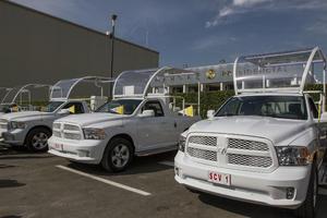 Los vehículos serán trasladados a los diferentes estados que visitará.