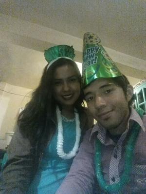 Paula Lizeth Valdéz Calzada. Nuestro tercer año nuevo juntos y espero sean muchos más #FloreriaVintage .