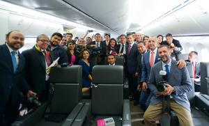 La Presidencia de la República compartió fotografías del interior del avión.
