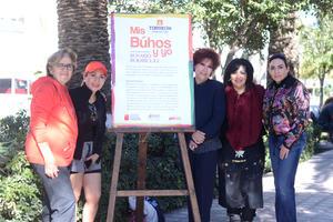 08022016 EN RECIENTE EXPOSICIóN.  Ruth Idalia, Rocío, Rocío y Alejandra con Rosario.