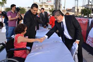El alcalde Miguel Riquelme estuvo presente en la ceremonia.