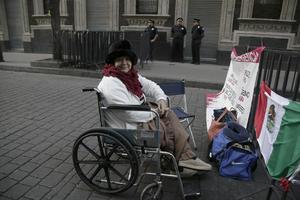 Personas con discapacidad acudieron a ver al Papa.