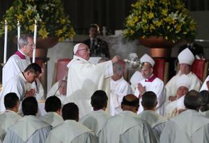 Con la ceremonia, el Papa concluyó sus actividades en su primer día completo en México.