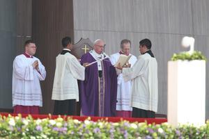 El Papa eligió oficiar misa en ese municipio con un alto nivel de marginación y de violencia.