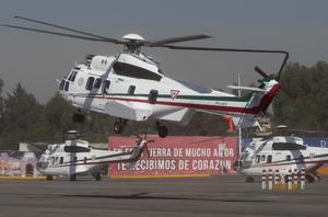 El Papa llegó en un helicóptero procedente del Campo Marte en la Ciudad de México.