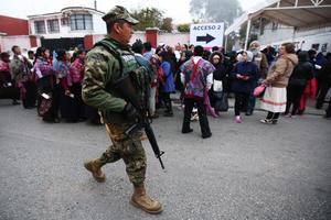 Autoridades mexicanas cuidaron al máximo la seguridad.