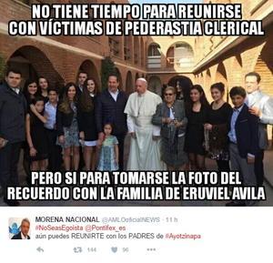 La frase también fue motivo de críticas contra el pontífice.