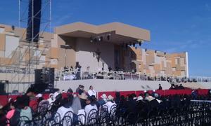 Este es el altar donde el Papa Francisco oficiará la misa.