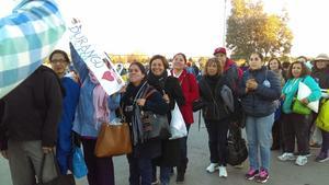 Gomezpalatinos se hacen presentes en Ciudad Juárez, Chihuahua para asistir a la misa de Papá Francisco.