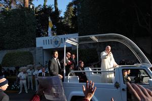 El Papa realizó su último recorrido en la Ciudad de México.