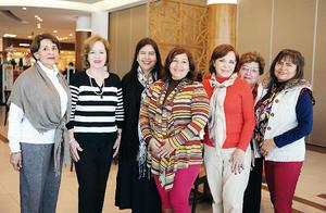 14022016 CUMPLEAñERAS DE ENERO.  Maru, Lupita, Alicia, Hermila, Rebeca, Susy y Silvia.
