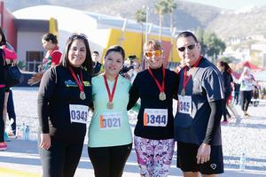 14022016 CORREDORES.  Claudia, Rosario, Cristy y Moy.