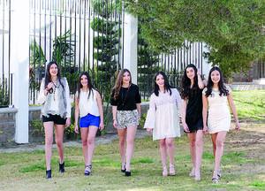 15022016 CON SUS AMIGAS.  Ángela, en su festejo por sus 16 años de vida, con Samia, Dany, Laura, Jimena y Mariana.