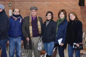 16022016 EN UNA CONFERENCIA.  Eduardo, Luis Enrique, Julieta, Diana y Sara.