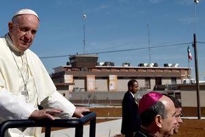 El Papa visitó Ciudad Juárez en el último día de su gira por México.,