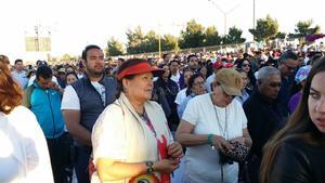 Acudieron fieles de distintas partes del país y de la frontera cercana de Estados Unidos con México.