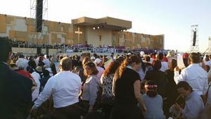 El Papa Francisco celebró en Ciudad Juárez la última misa de su visita a México.
