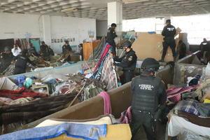 Un total de 598 elementos de Fuerza Civil revisaron las instalaciones del penal.