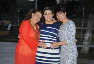 23022016 SERá MAMá PRONTO.  Ana Rosa de Rodríguez con Graciela Leal y Rocío de Rodríguez.