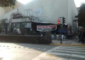 Los disturbios generaron alerta entre los ciudadanos y los estudiantes quienes reportaron el hecho en redes sociales.