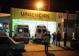 Los lesionados fueron canalizarlos a hospitales del Sector Salud en el municipio de Gómez Palacio.