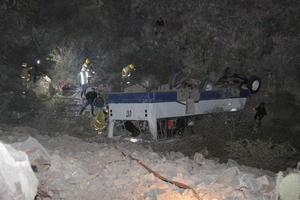 Finalmente el conductor perdió el control del autobús y se precipitó al vacío a la altura del denominado Cañón del Diablo, el cual tiene una profundidad de aproximadamente 200 metros, aunque la unidad quedó volcada a una distancia de entre 30 a 35 metros.