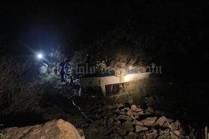 El accidente se registró aproximadamente a las 19:30 horas en cuando el autobús de la línea Termo-Chapala, número económico 17, realizaba el descenso cuando le fallaron los frenos y comenzó a zigzaguear golpeando la pared de la montaña con su costado derecho.