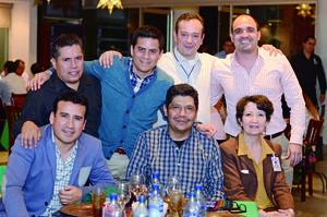28022016 EVENTO DE EVALUACIóN.  Óscar, Moisés, Julio, Ignacio, César, Carlos y Alia.