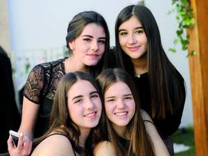 29022016 MUY LINDAS.  Ángela, Anaelise, Sara y Monse.