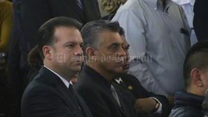 El candidato del PRI a la gubernatura de Durango, Esteban Villegas, asistió a la misa.