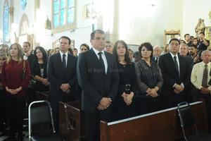 El alcalde de Gómez Palacio, José Campillo, acudió a la misa para despedir a Carlos Herrera.