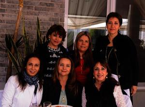 Diana, Ana Sofía, Cecy, Lily, Susy y Asdisde