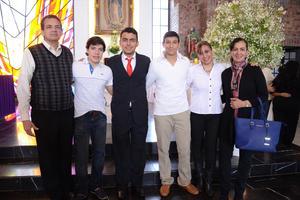 04032016 Manolo, Héctor, Carlos, Eddy, Mónica y Elsa.